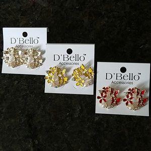 💎BOGO NWT💎D'Bello Gold tone earrings